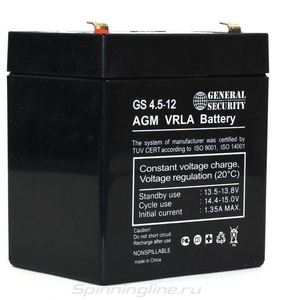 Новый Аккумулятор General Security GS 4.5-12